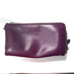 Coach purple/plum wallet-2 pockets
